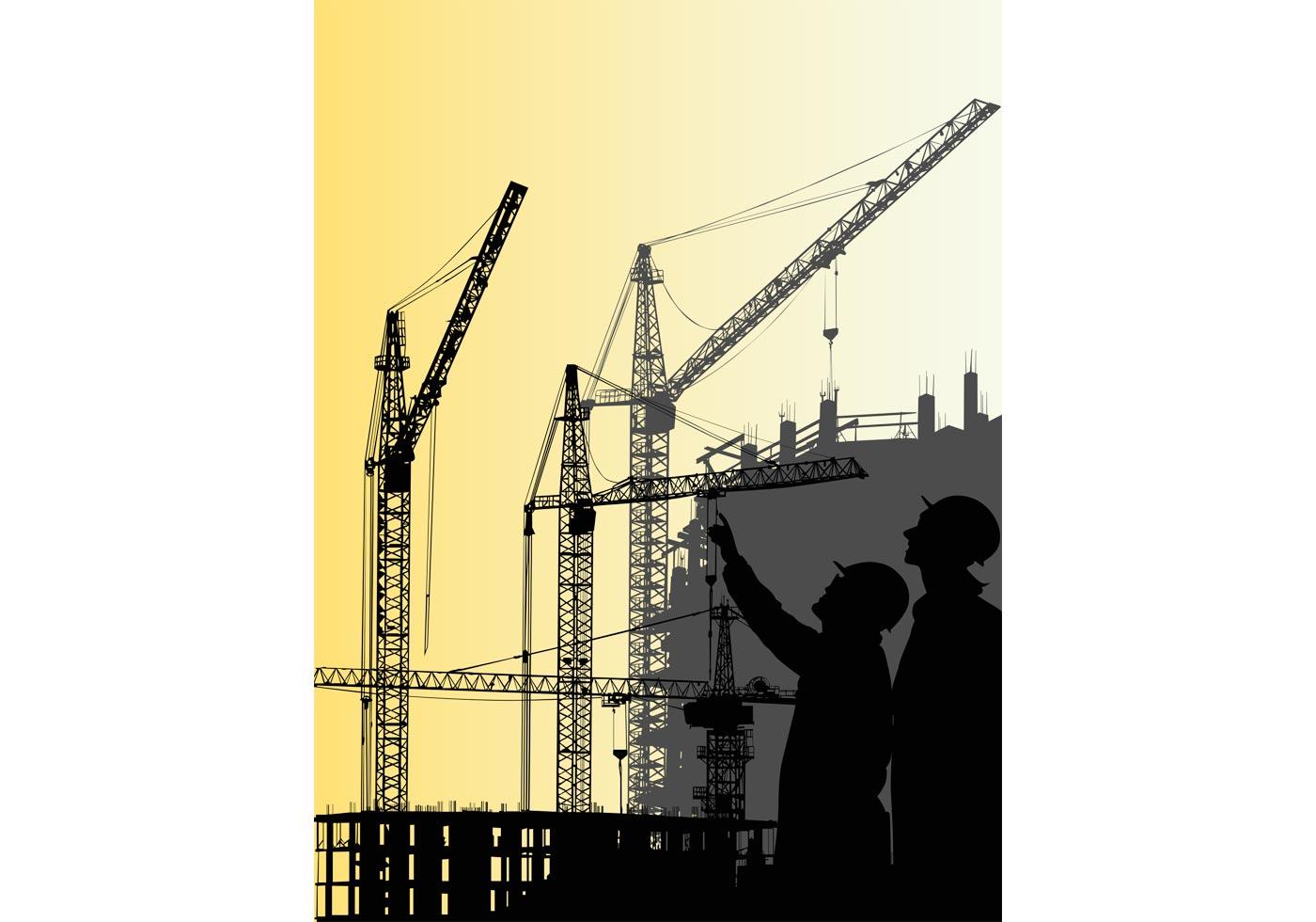1400x980 Construction Crane Free Vector Art