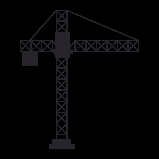 550x550 Construction Crane Silhouette