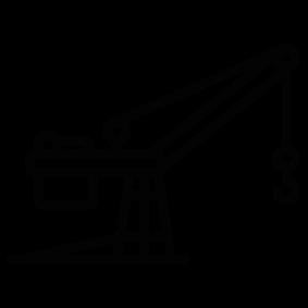 283x283 Construction Crane Silhouette Silhouette Of Construction Crane