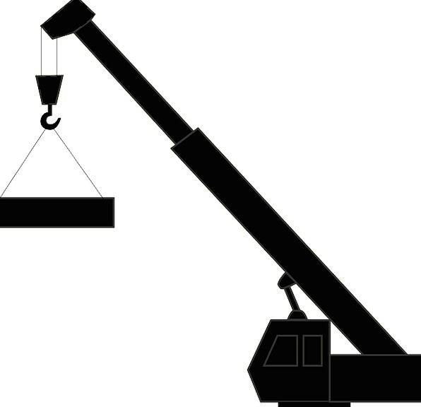 596x576 Crane, Hoist, Buildings, Barbican, Architecture, Machine