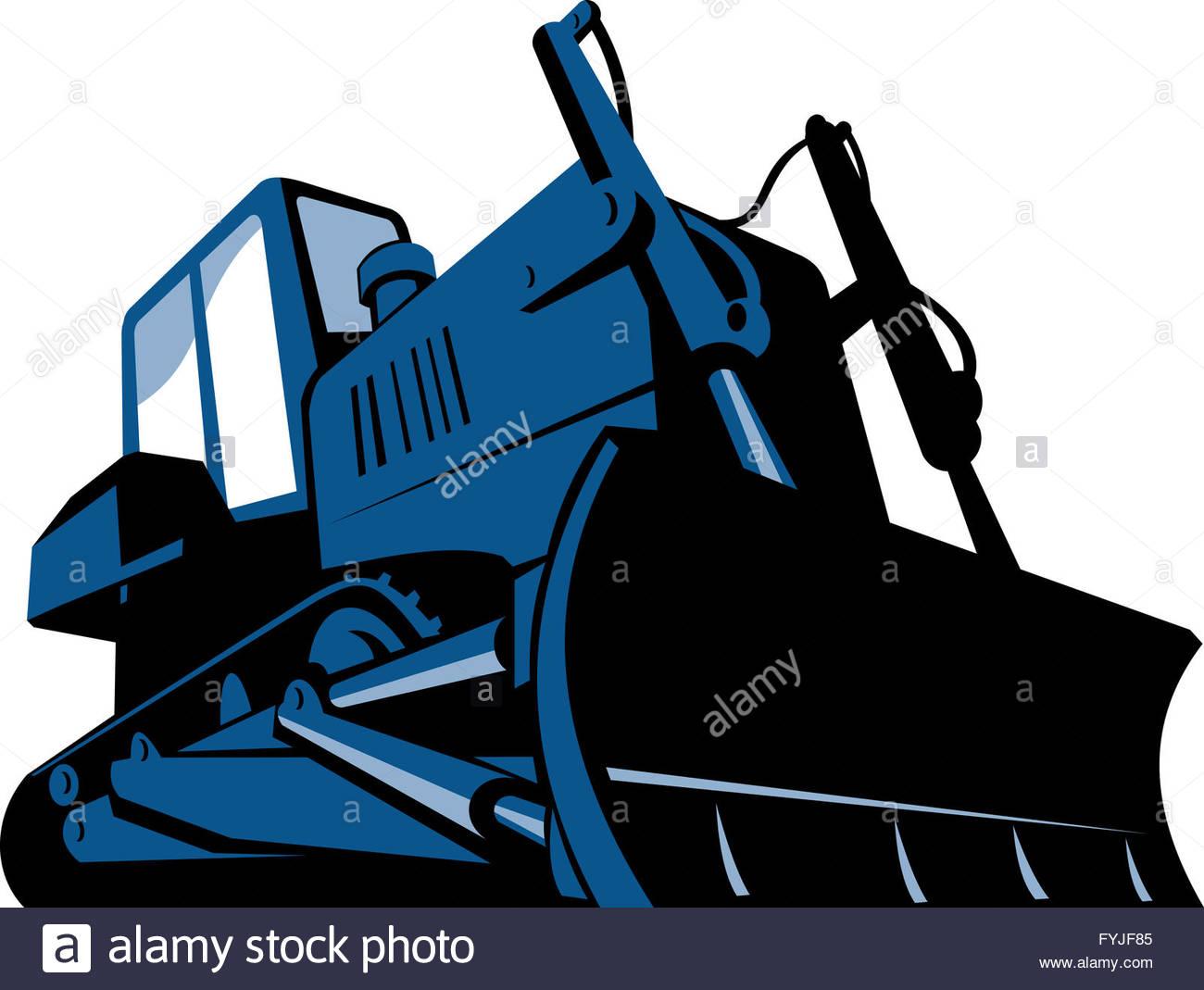 1300x1069 Bulldozer Front Retro Stock Photo, Royalty Free Image 103054677