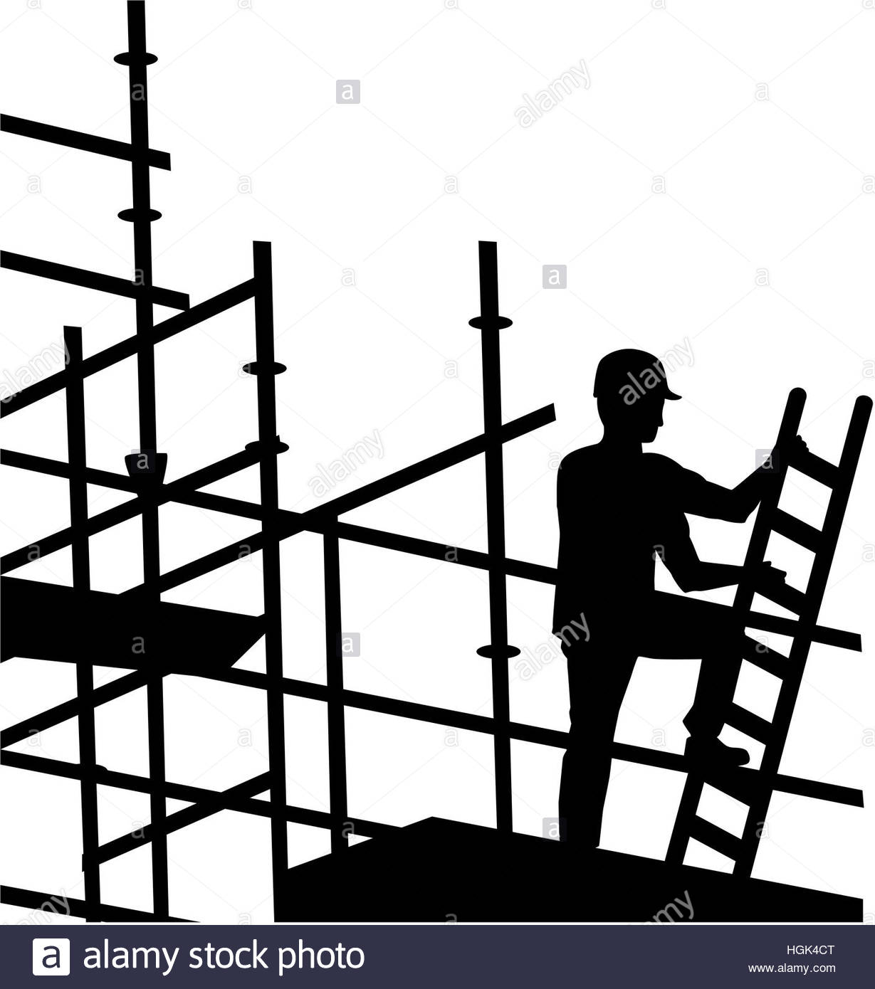 1229x1390 Scaffolder Working On Site Stock Photo, Royalty Free Image