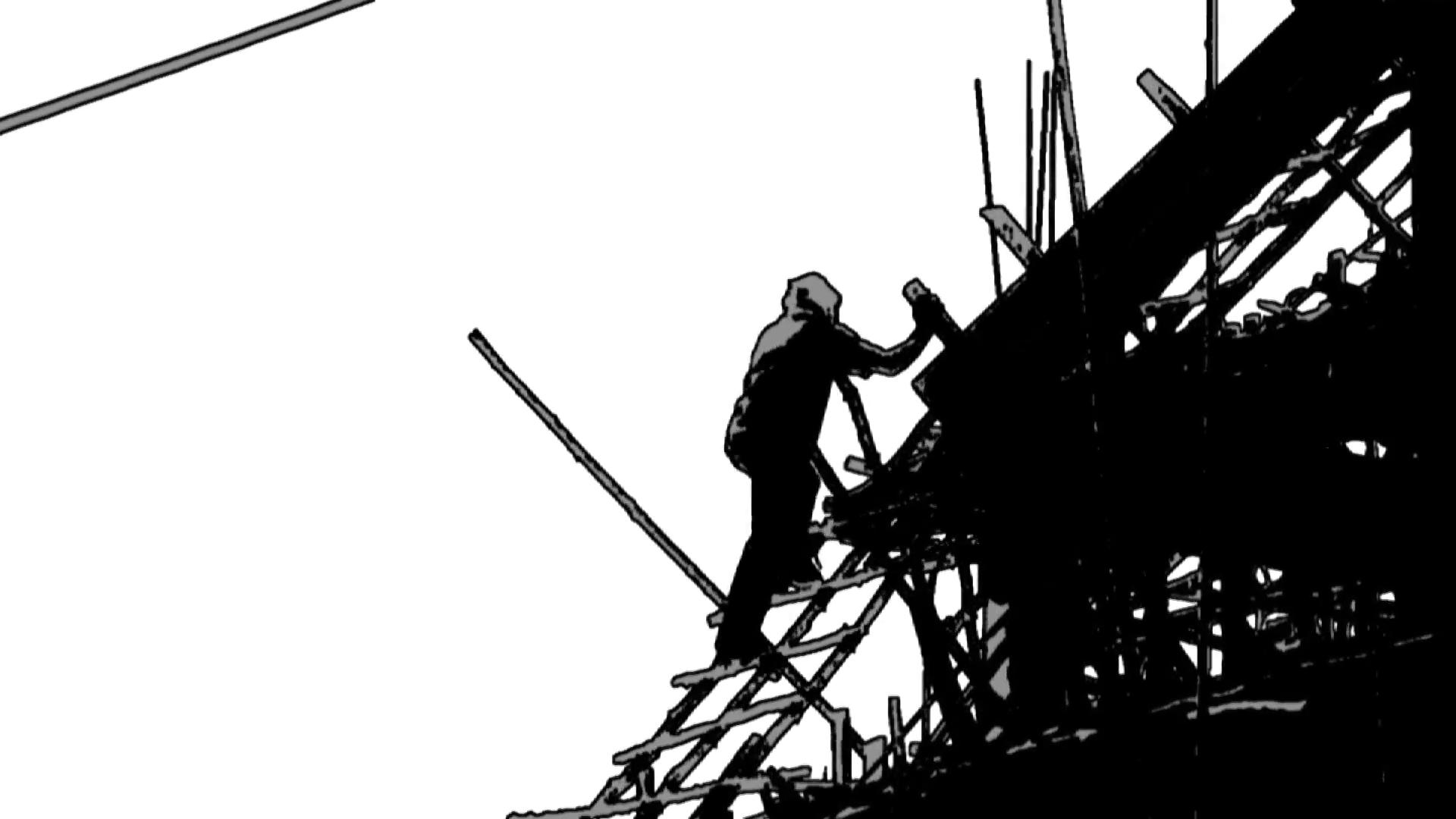 1920x1080 Construction Worker Silhouette Industry Site Building Development
