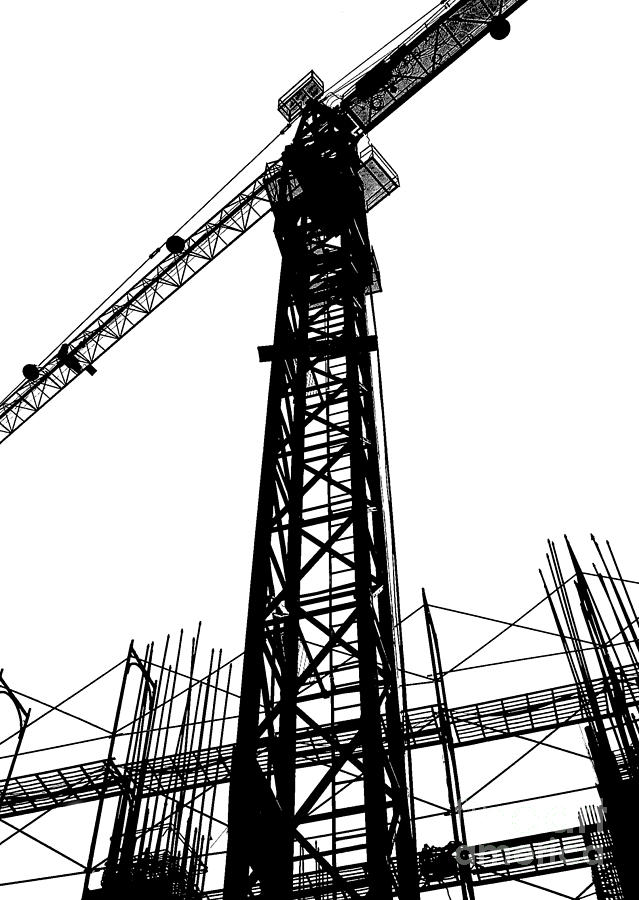 639x900 Construction Site Silhouette Photograph By Yali Shi