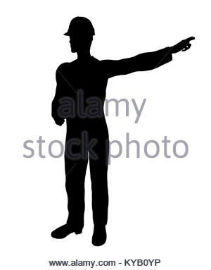 300x383 Male Construction Worker Art Illustration Silhouette On A White
