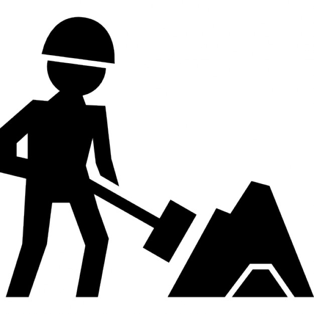626x626 Worker Of Construction Working With A Shovel Beside Material Pile