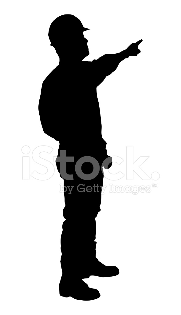 589x1024 Construction Worker Silhouette Stock Vector