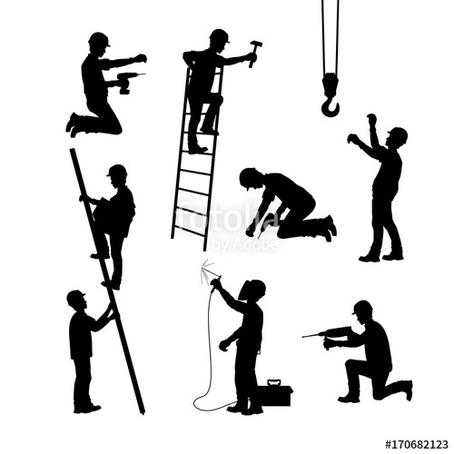 Construction Worker Silhouette Vector Free