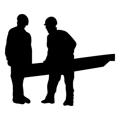 512x512 Construction Worker Handing Silhouette
