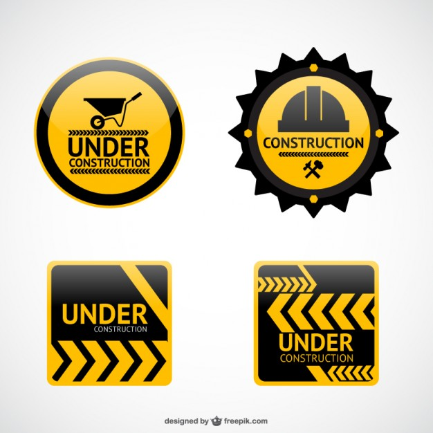 626x626 Under Construction Stickers Vector Free Download