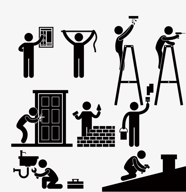 650x670 Construction Worker, Vector Construction, Whitewashing Png