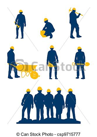 332x470 Workers Silhouette With Yellow Tools And Helmet Vectors