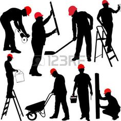 236x237 Construction Worker Vector Graphic Construction Worker, Vector