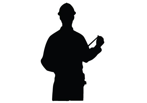 500x350 Construction Workers Silhouette Vector Download Silhouette