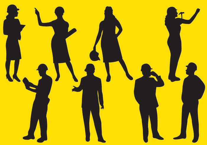 700x490 Man And Woman Worker Silhouettes