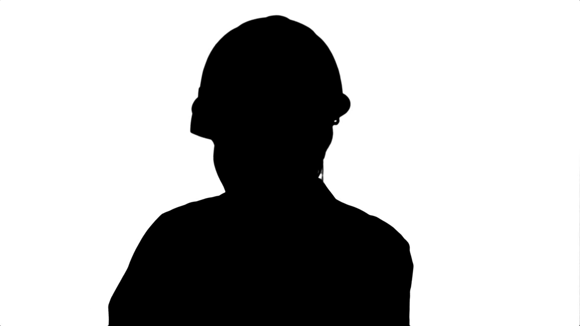 1920x1080 Silhouette Angry Woman Construction Worker In A Hardhat Shouting