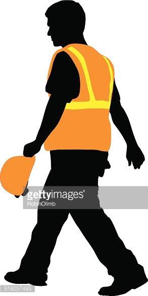 293x586 Construction Worker Walking Premium Clipart