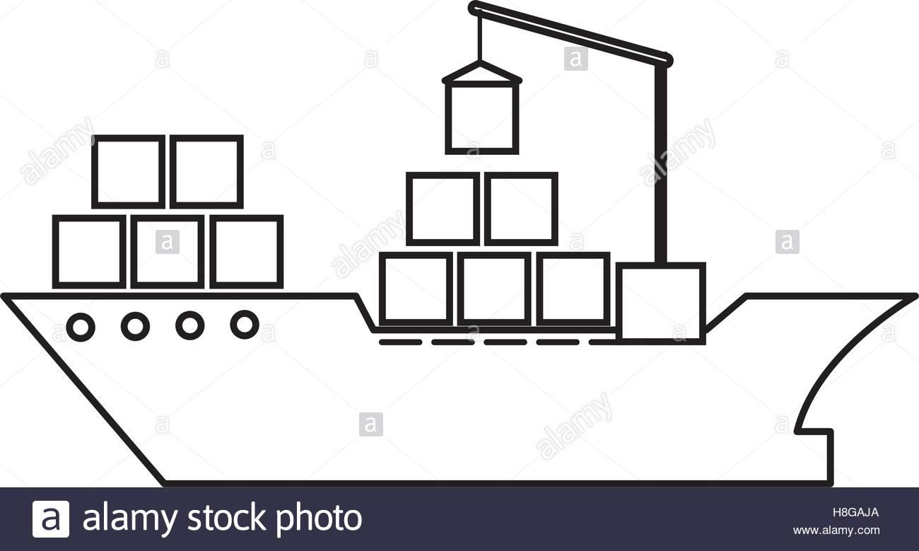 1300x779 Cargo Ship Silhouette Stock Photos Amp Cargo Ship Silhouette Stock