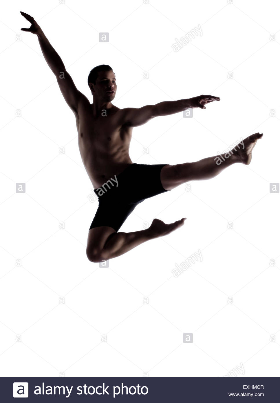 967x1390 Silhouette Of An Muscular Adult Male Modern Contemporary Ballet