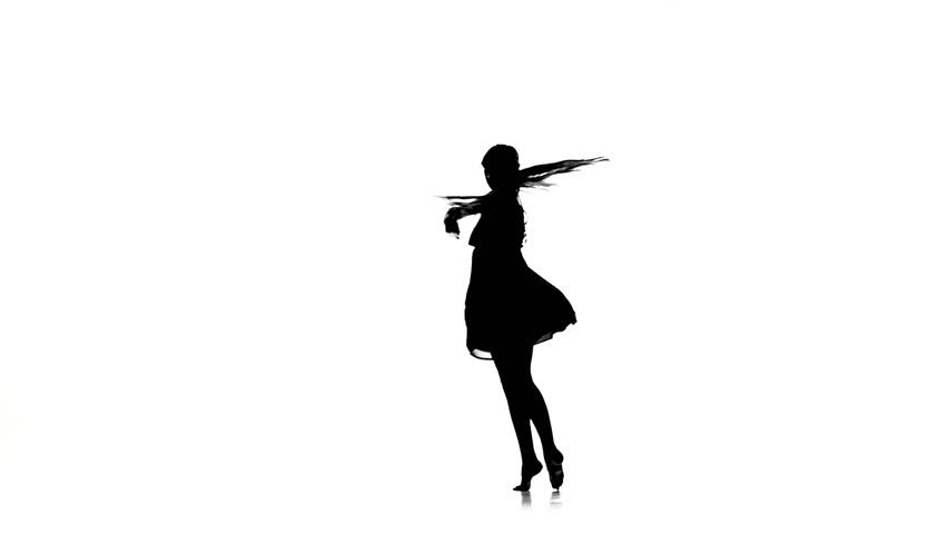 852x480 Graceful Girl Dancer Dancing Contemporary Dance On White