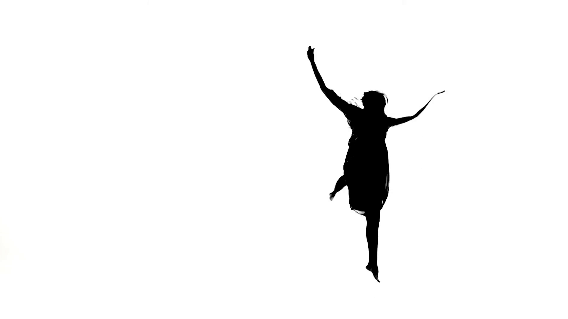1920x1080 Graceful Girl Dancer Dancing Contemporary Dance, Jumps On White