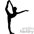 120x120 Royalty Free Ballet Split Jump Silhouette 168815 Vector Clip Art
