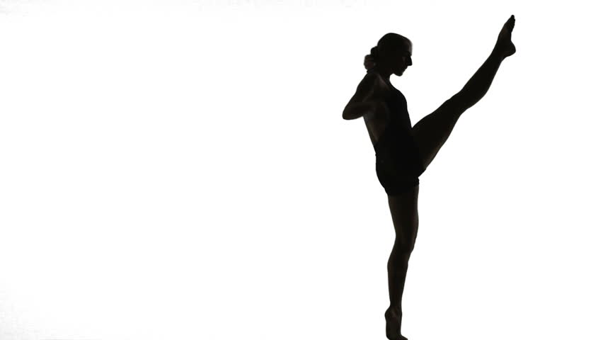 852x480 Silhouette Young Woman Doing A Modern Dance Piece In Front