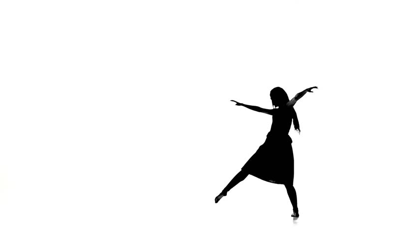 852x480 Slim Woman Dancer Dancing Contemporary Dance, Turns Around