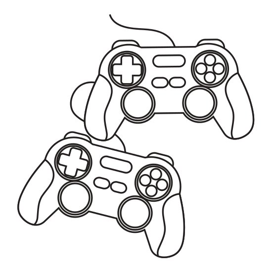 550x550 Videogame Control Silhouette