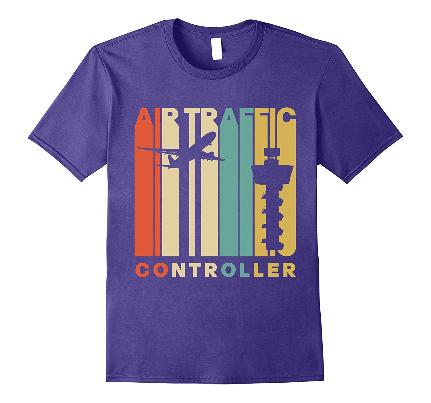1500x1403 Vintage Style Air Traffic Controller Silhouette T Shirt Tj Theteejob