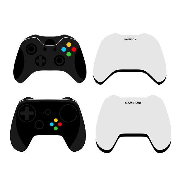 600x600 Game Controller Cuttable Design Cut File. Vector, Clipart, Digital