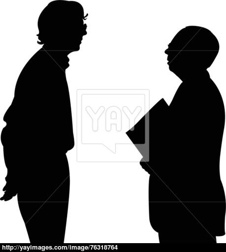 459x512 Talking People Silhouette Vector Vector
