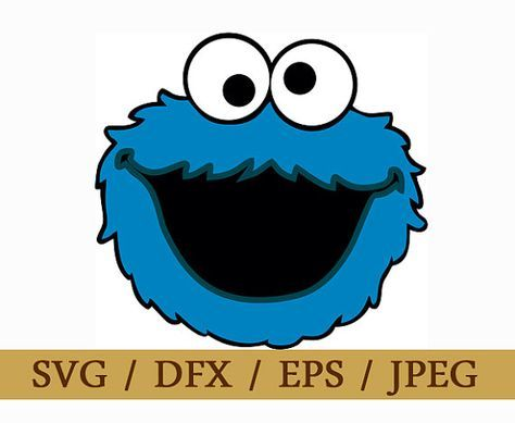 474x389 Cookie Monster Sesame Street Svg Png Dxf Logo Vector Cut File