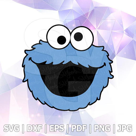 570x570 Svg Png Sesame Street Cookie Monster Layered Cut Files Cricut