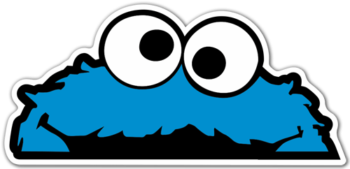500x242 Stickers For Baby Cookie Monster Stickers