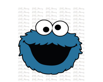 340x270 Cookie Monster 3 Layered Svg Cut File Cricut Silhouette
