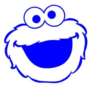320x308 Cookie Monster Decal Sticker