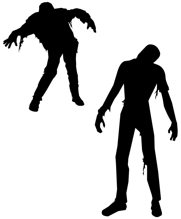 580x700 Cool Zombie Silhouette Clipart
