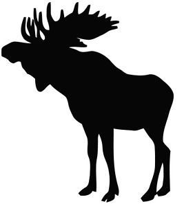 267x300 This Is A Cool Moose Hunting Silhouette Vinyl Cut Decal Or Sticker