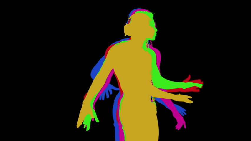 852x480 Shadow Silhouette Of A Cool Guy Dancing Stock Footage Video