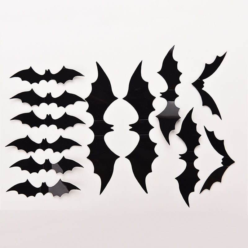 800x800 Zlinkj 12 Pcs Removable Cool Little Bat Wall Sticker Art Wall