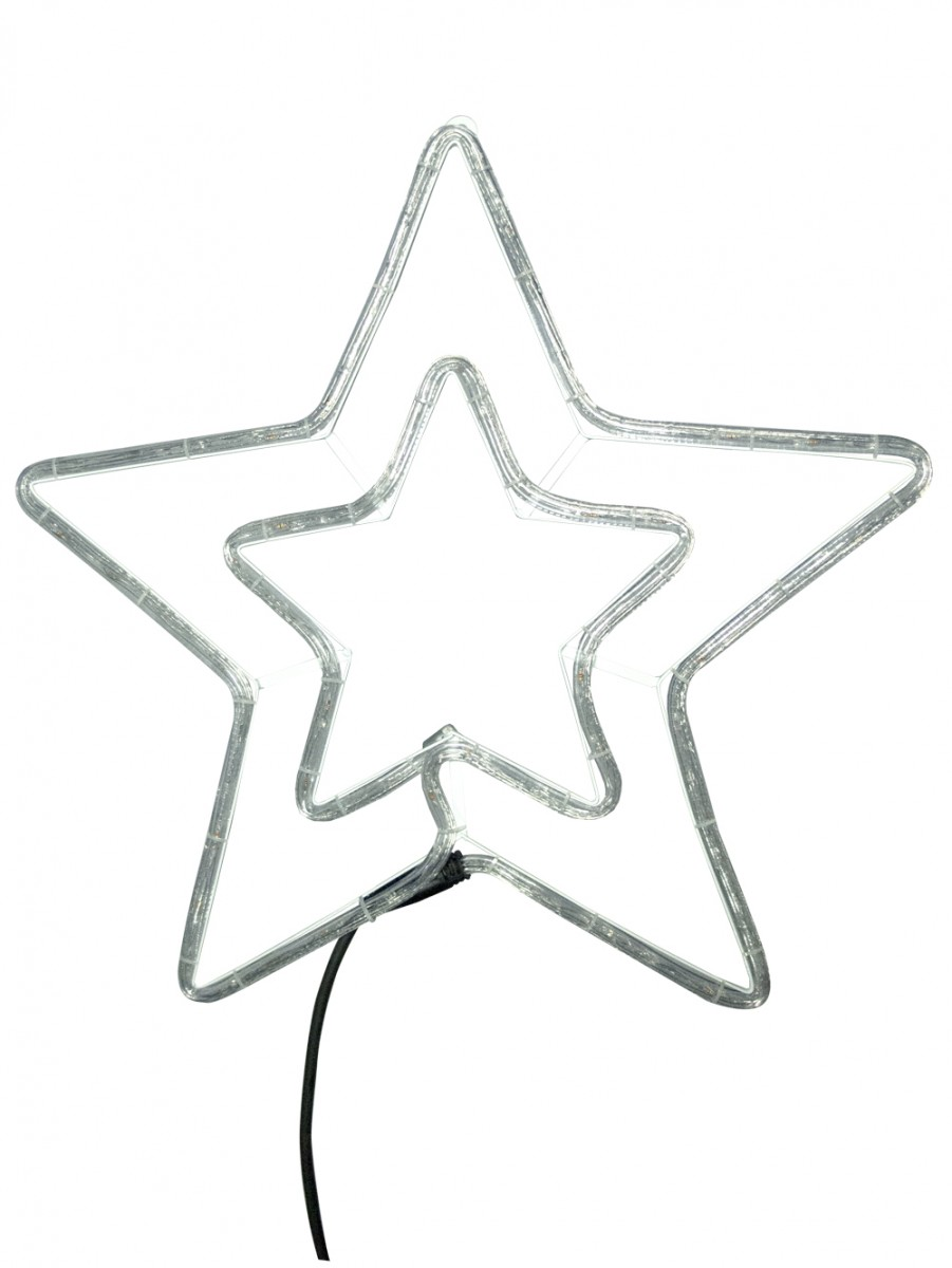 901x1200 Blue Amp Cool White Led Double Star Rope Light Silhouette