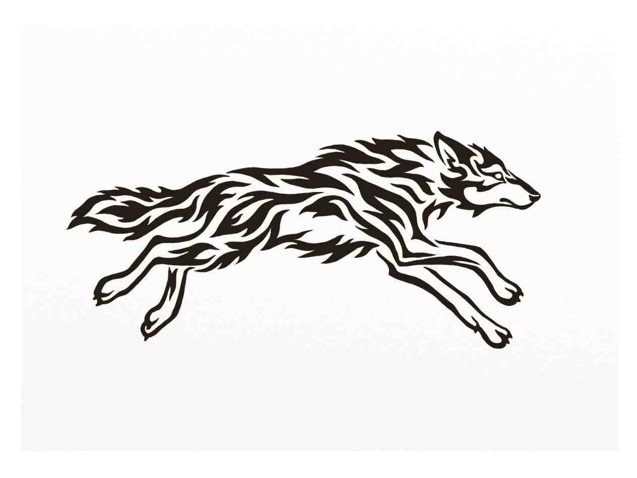 1264x948 Running Cool Tribal Designs To Draw Wolf Silhouette Google Search