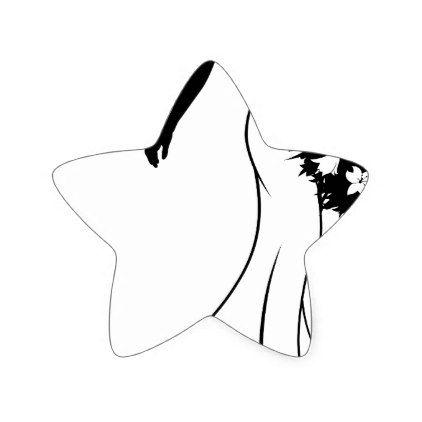 422x422 Wedding Bride Silhouette Holding Bouquet Star Sticker