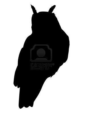 300x400 Owl Silhouette Tattoo