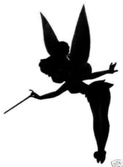 426x581 Tinkerbell Silhouette Tattoos