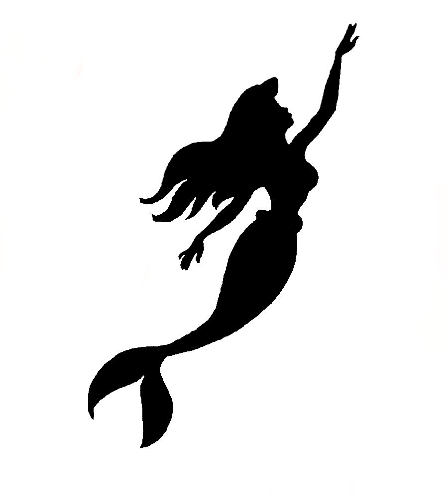 900x1000 Little Mermaid Silhouette Free Download Clip Art Cool Printable