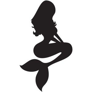 300x300 Mermaid Silhouette Tattoo Cool Art, Photos Tattoos