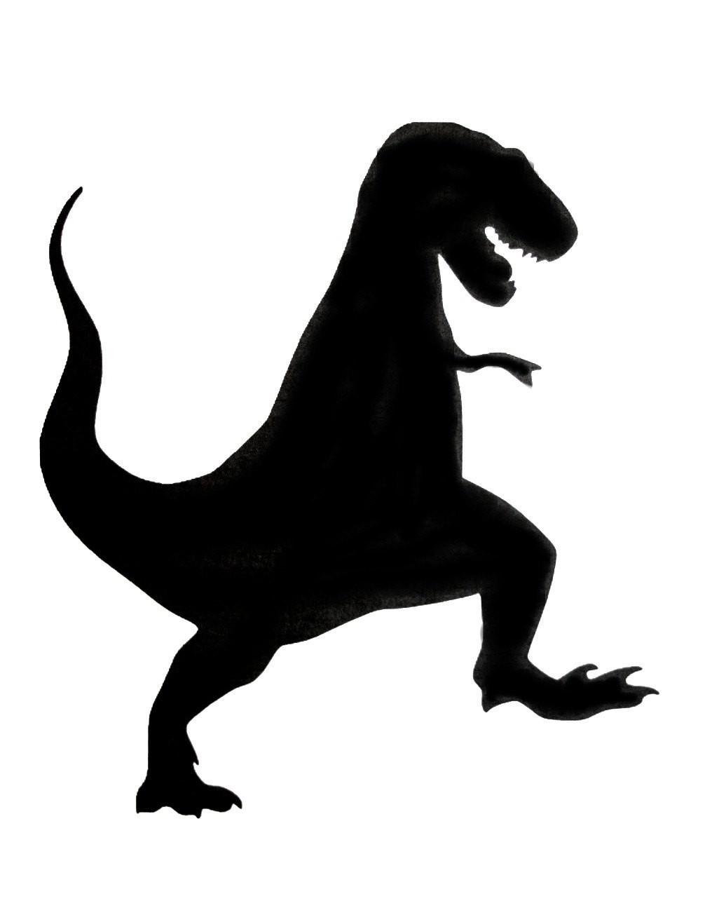 1006x1305 T Rex Dinosaur Silhouette Clipart Magnificent Simple Cool