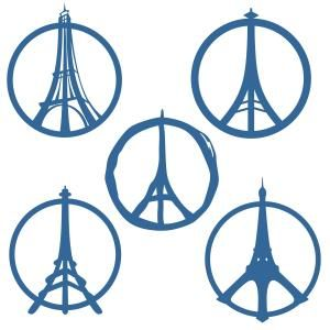 300x300 Eiffel Tower Paris France Peace Sign Svg Cuttable Designs Works